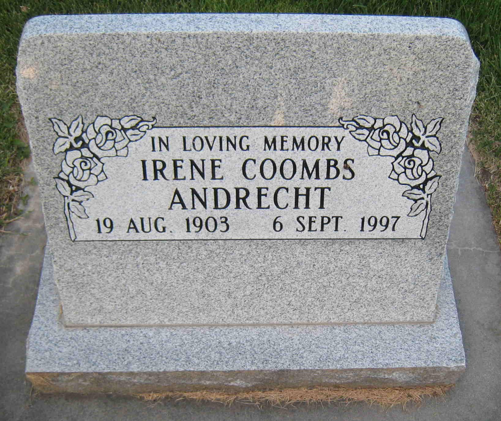 Irene <i>Coombs</i> Andrecht