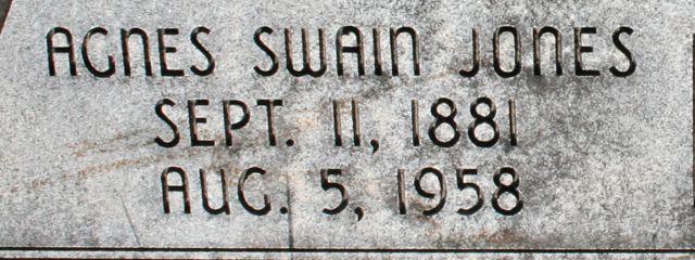 Agnes Sophia <i>Swain</i> Jones