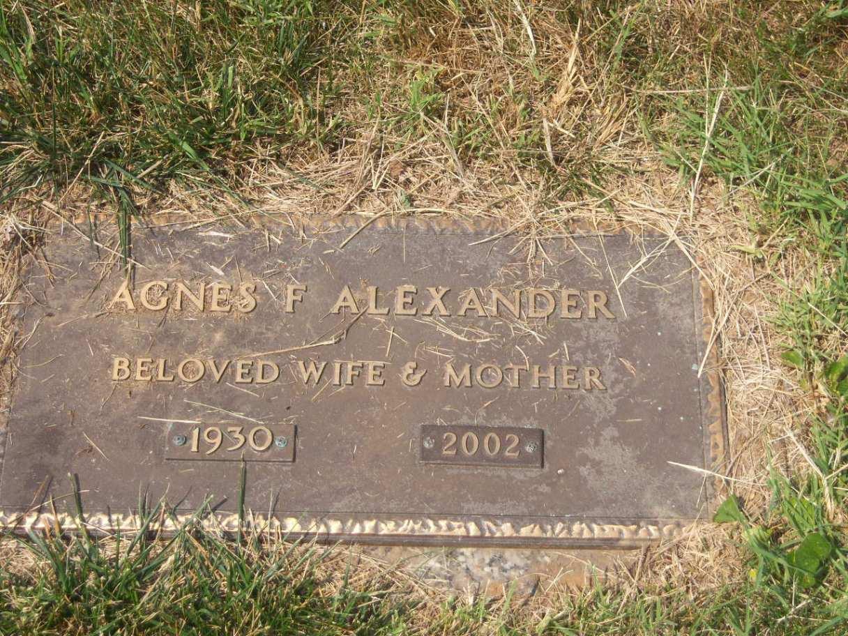 Agnes F. Alexander