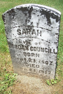 Sarah <i>Bower</i> Councill