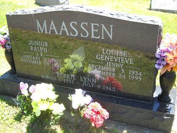 Louise Genevieve Jenny <i>Briggs</i> Maassen