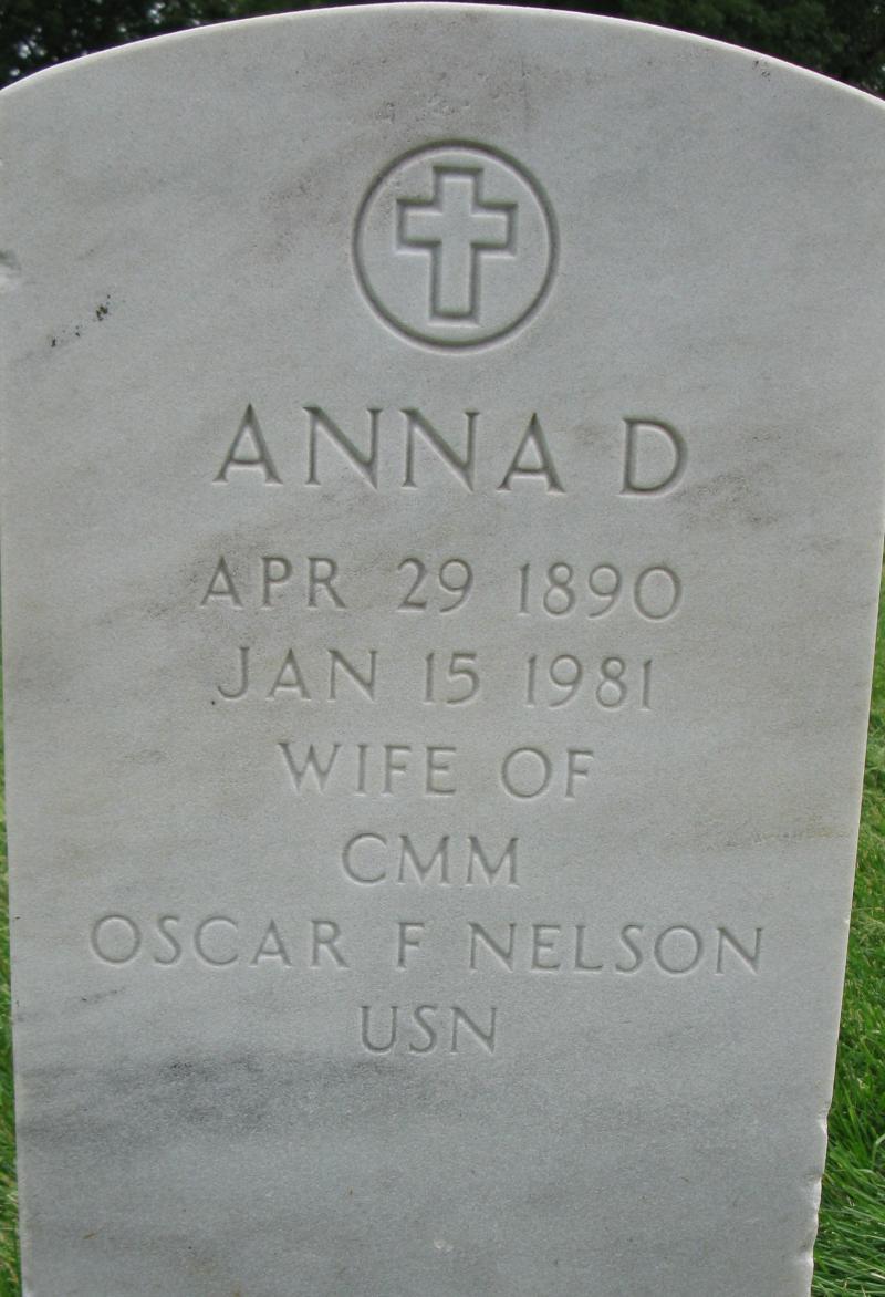 Anna D Nelson