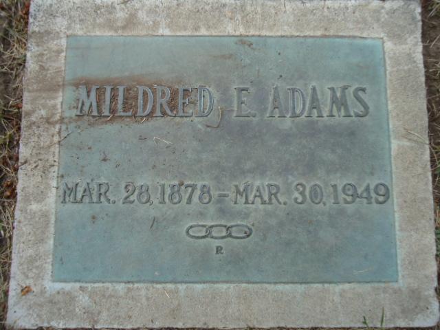 Mildred E. <i>Curtis</i> Adams