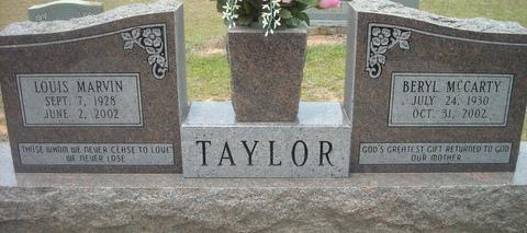 Beryl <i>McCarty</i> Taylor