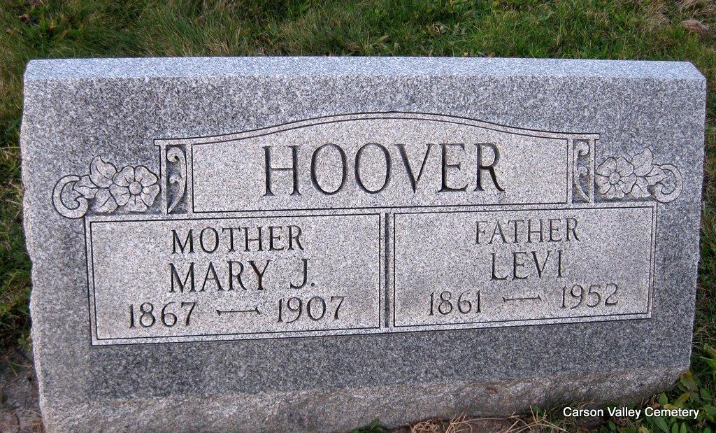 Mary J <i>Strayer</i> Hoover