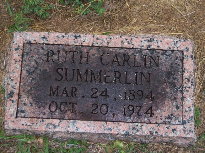 Ruth Belle <i>Carlin</i> Summerlin