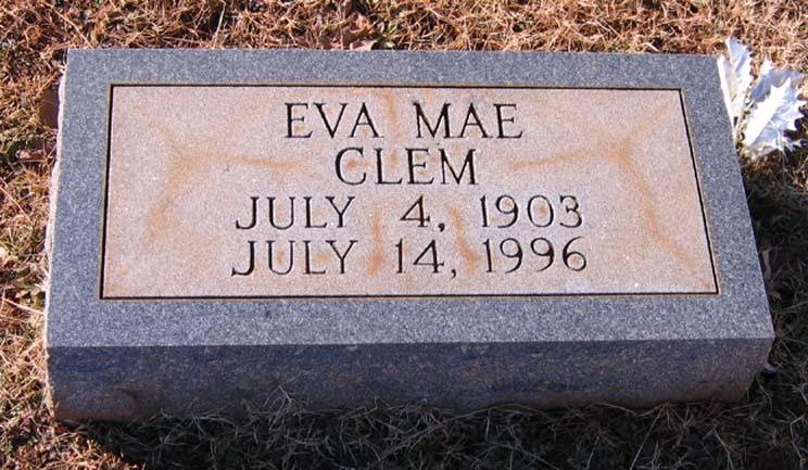 Eva Mae <i>Bolin</i> Clem