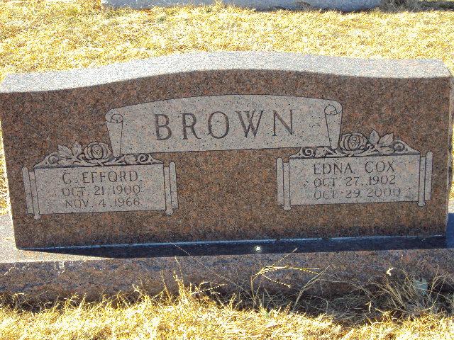 Edna <i>Cox</i> Brown