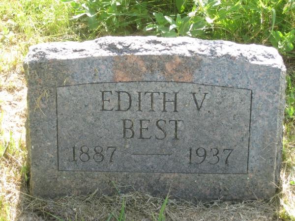 Edith V <i>Holmes</i> Best