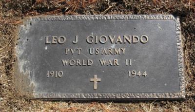 Pvt Leo Joseph Giovando