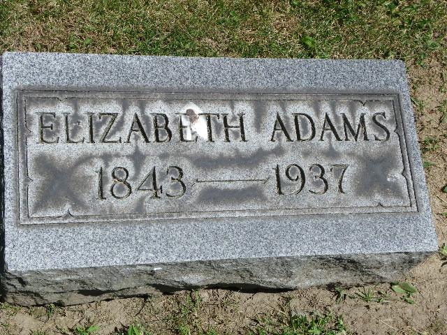 Elizabeth Anne <i>Lodge</i> Adams