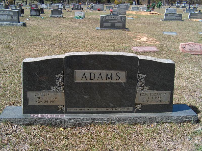 Rosa Elizabeth <i>Towns</i> Adams