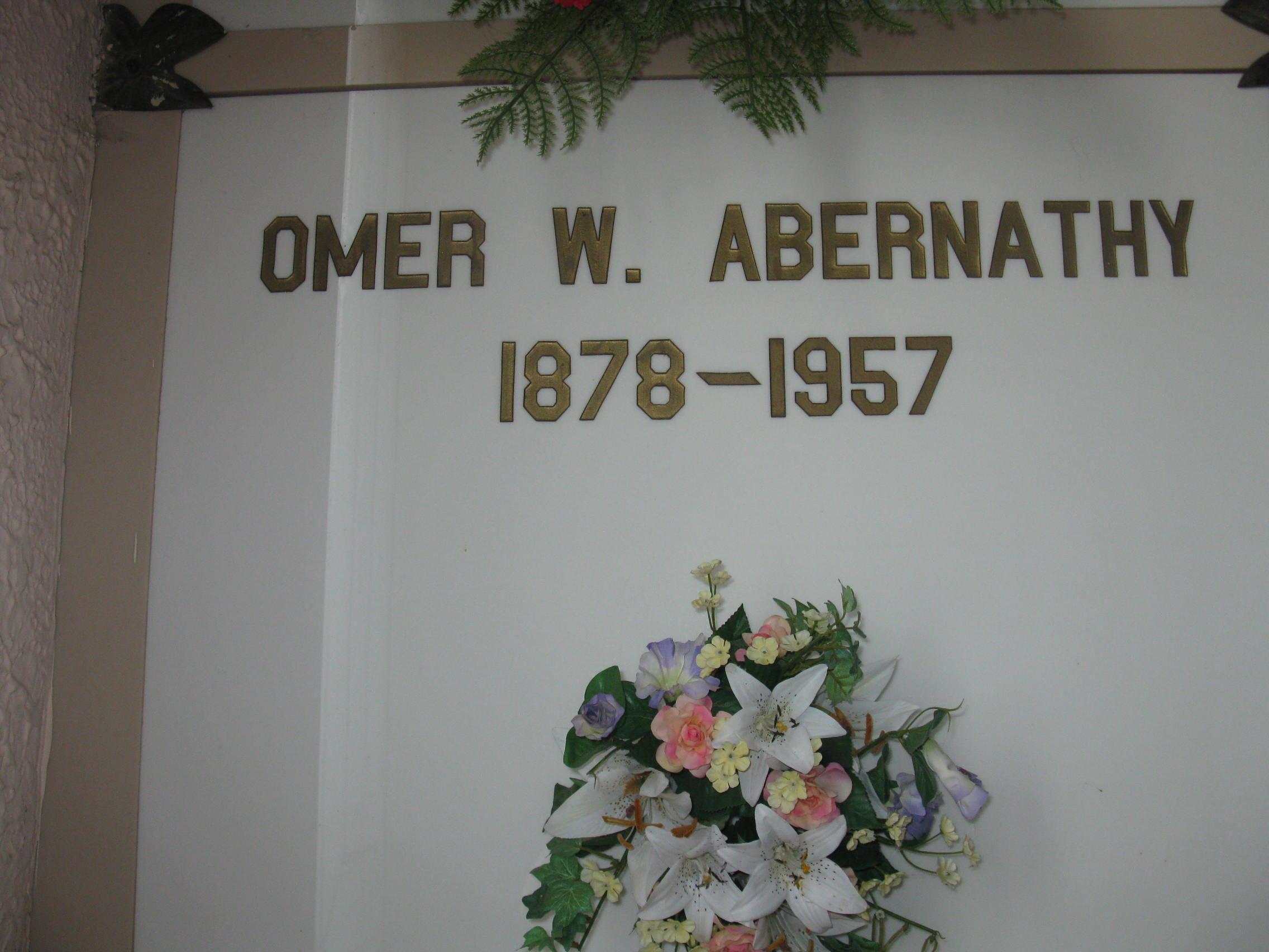 Omer W Abernathy