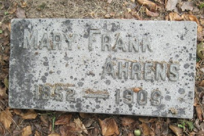 Marie <i>Frank</i> Ahrens