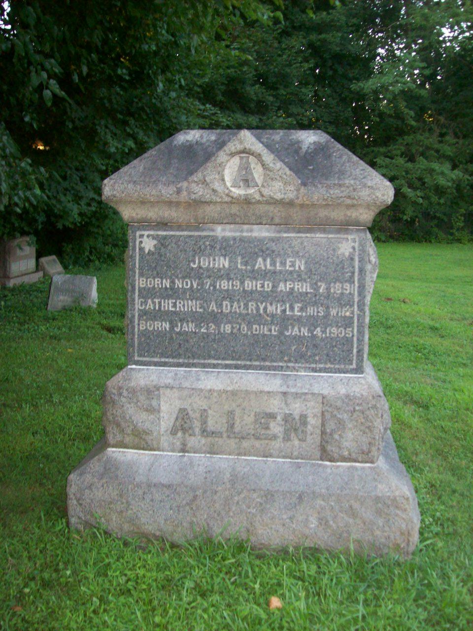 Catherine Ann <i>Dalrymple</i> Allen