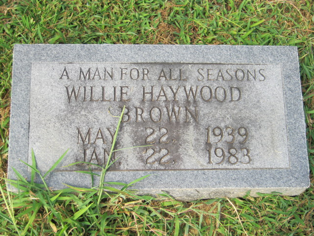 Wille <i>Haywood</i> Brown
