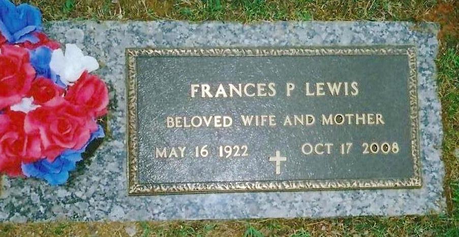 Frances Isabel <i>Phillips</i> Lewis