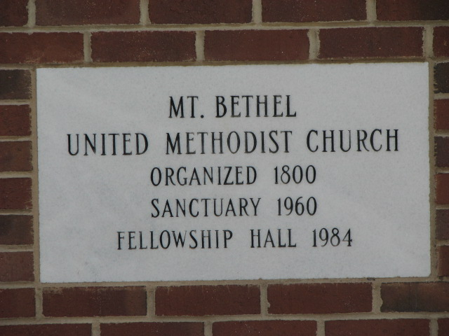 Mount Bethel Methodist Cemetery