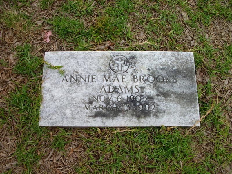 Annie Mae <i>Brooks</i> Adams
