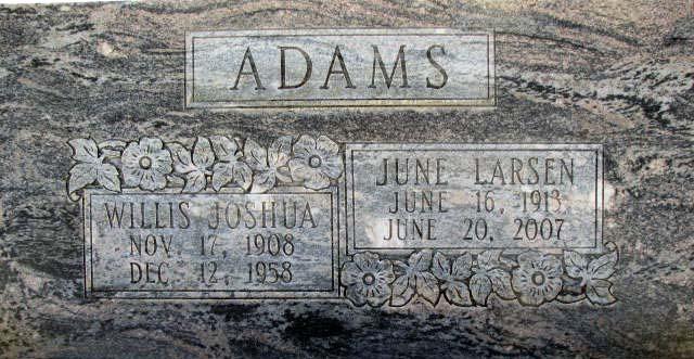 June J. <i>Larsen</i> Adams