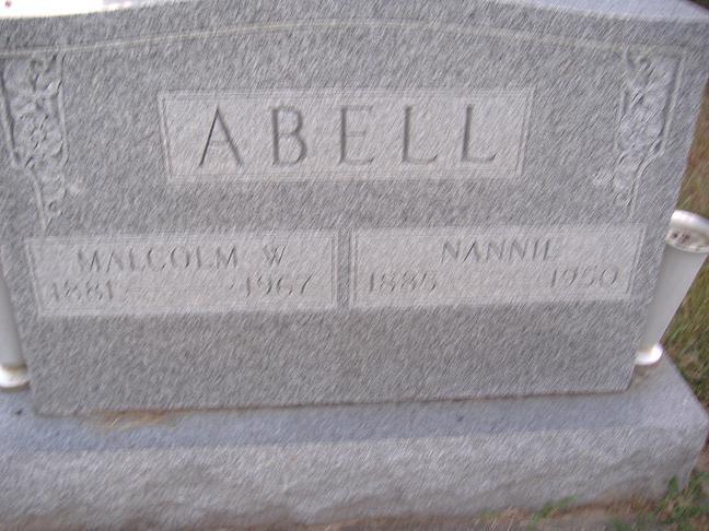 Nancy Nannie <i>Combs</i> Abell