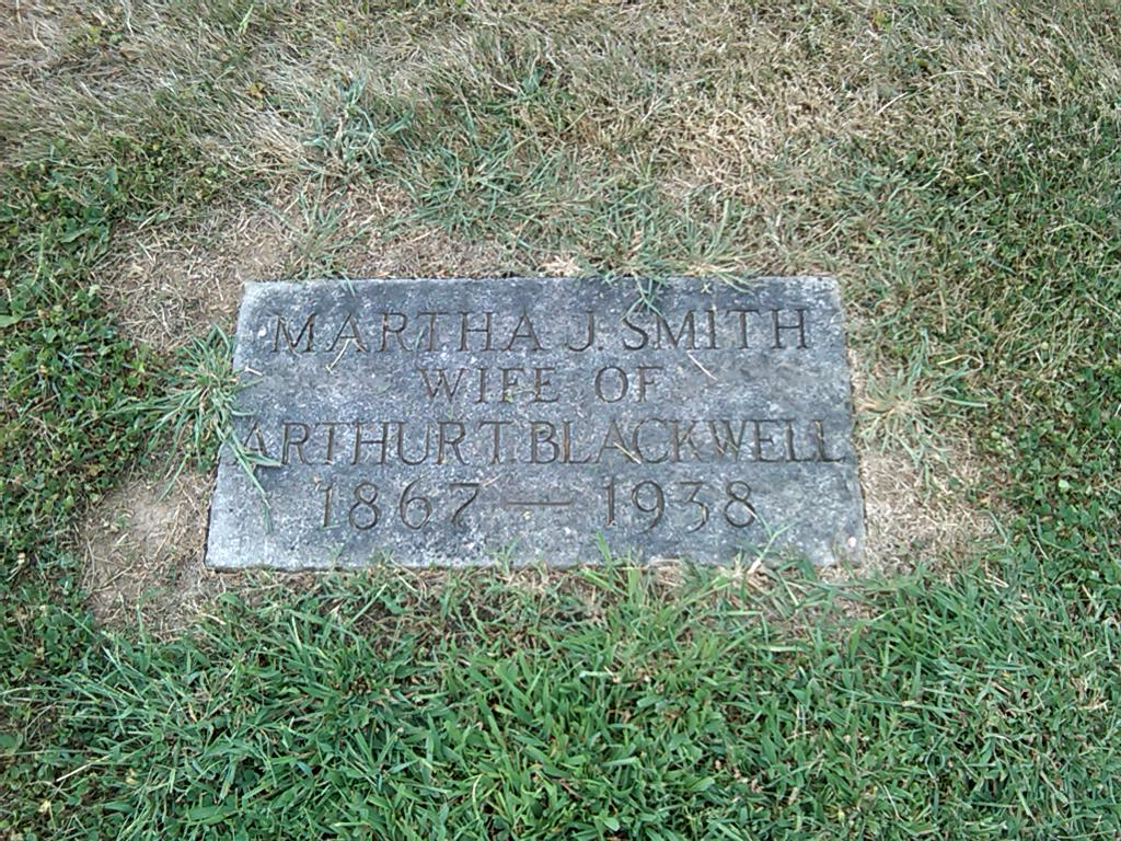 Martha J <i>Smith</i> Blackwell
