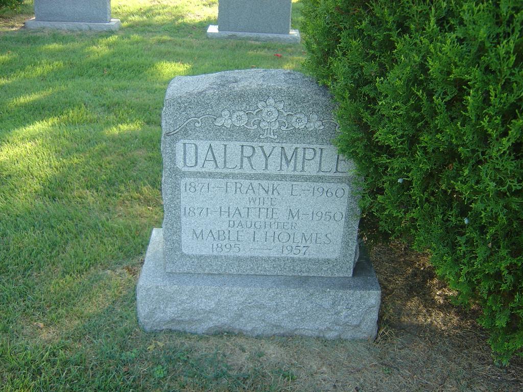 Harriett Matilda Hattie <i>Daniels</i> Dalrymple