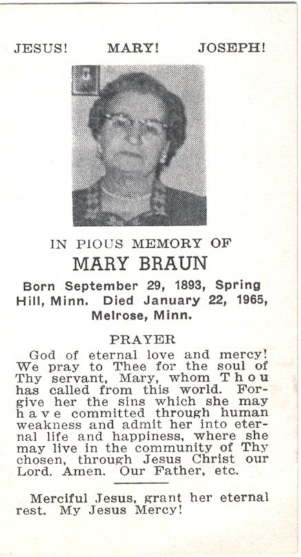 Mary <i>Schoenberg</i> Braun