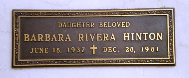 Barbara <i>Rivera</i> Hinton