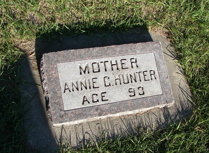 Annie G. C. <i>Walker</i> Hunter