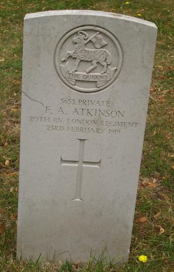 Pvt F A Atkinson