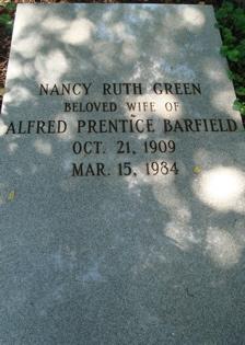 Nancy Ruth <i>Green</i> Barfield