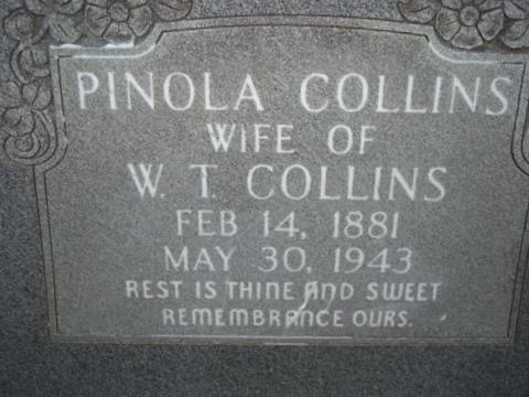 Pinola Paralee <i>Barton</i> Collins