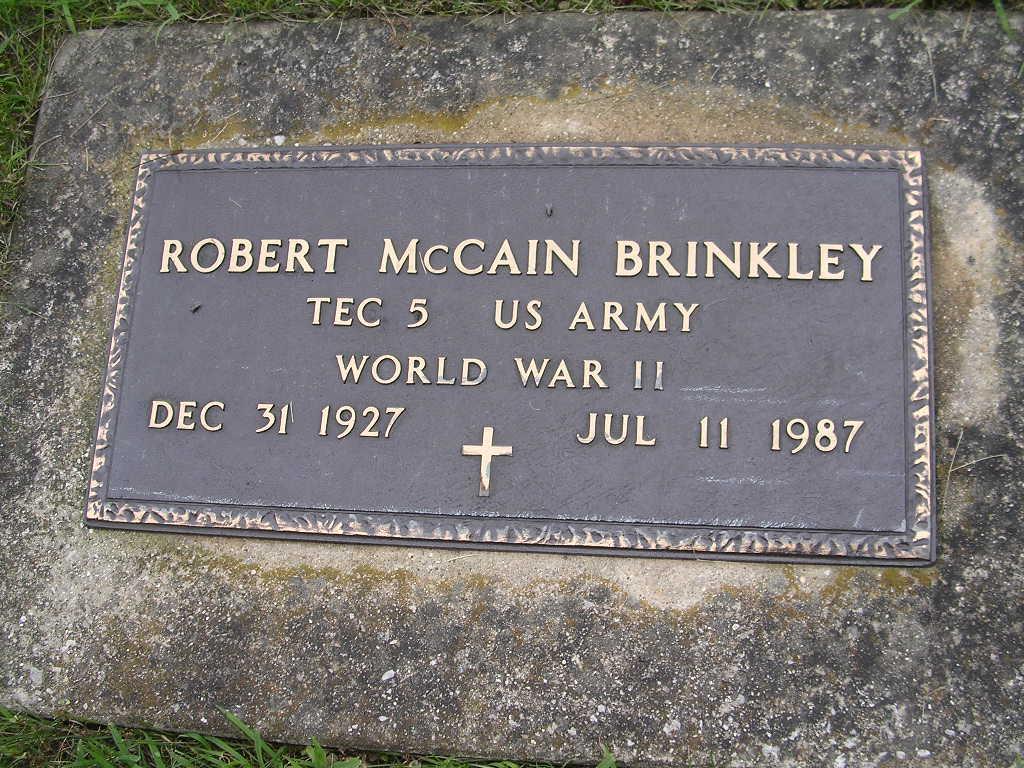 Robert McCain Bob Brinkley