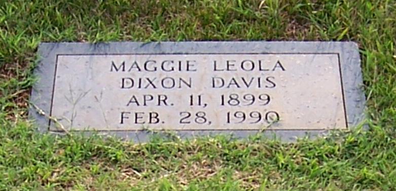 Maggie Leola <i>Dixon</i> Davis