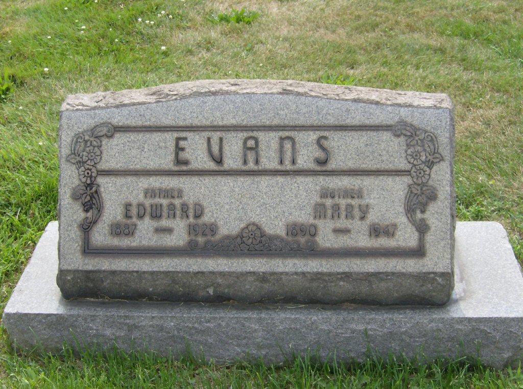 Mary <i>Jones</i> Evans