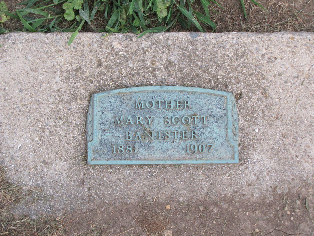 Mary May <i>Scott</i> Banister