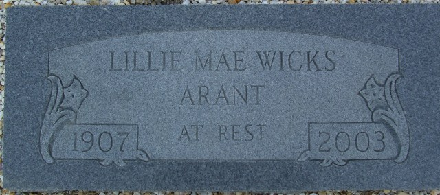 Lillie Mae <i>Wicks</i> Arant