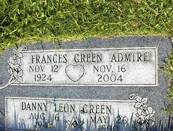 Frances Bertie <i>Green</i> Admire