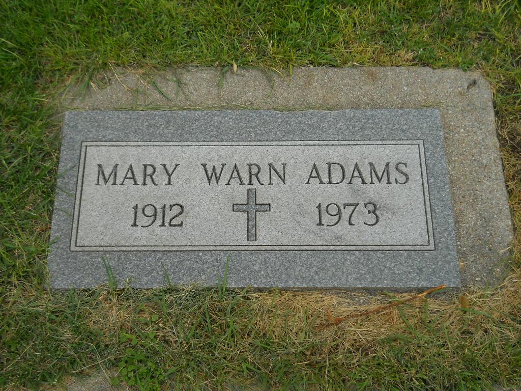 Mary Margaret <i>Warn</i> Adams