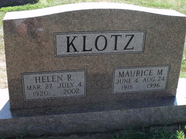 Helen L <i>Reinhart</i> Klotz