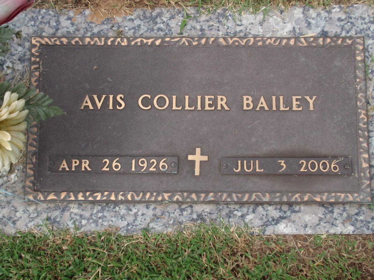 Avis <i>Collier</i> Bailey