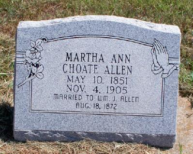Martha Ann <i>Choate</i> Allen