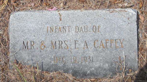Infant Daughter Caffey