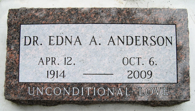 Dr Edna A. Anderson