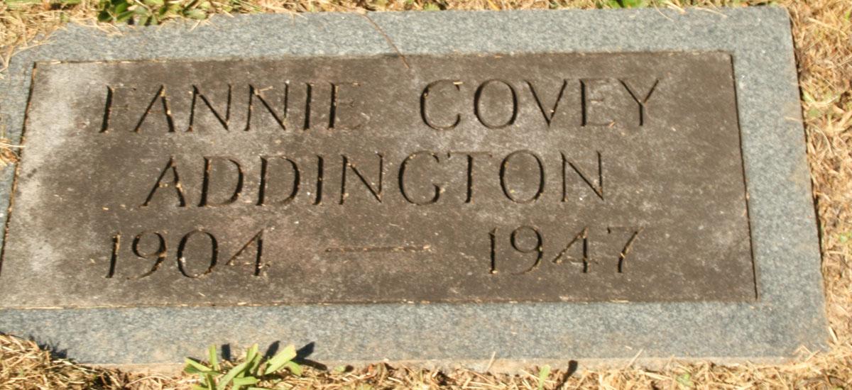 Fannie <i>Covey</i> Addington