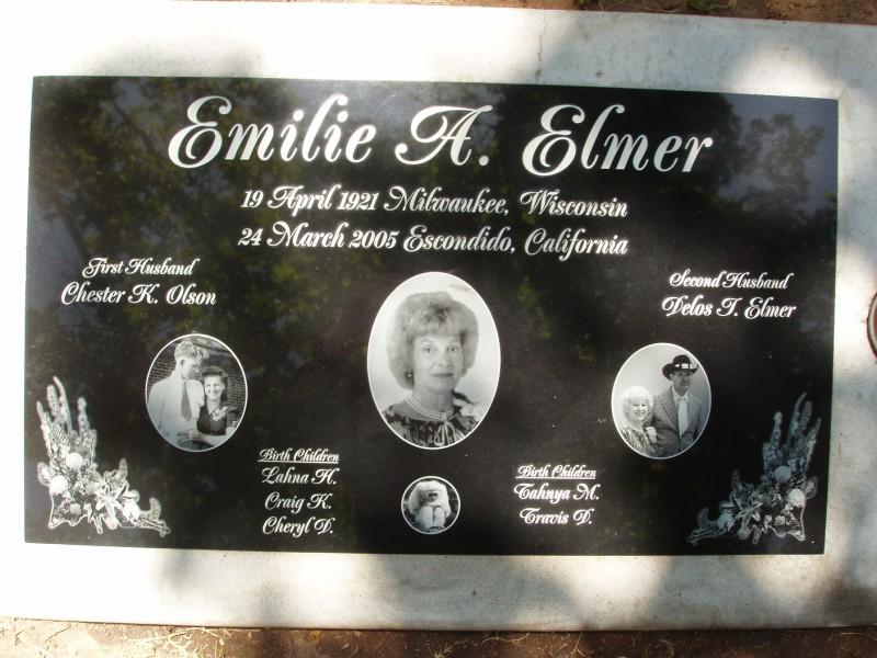 Emilie Anna <i>Walter</i> Elmer