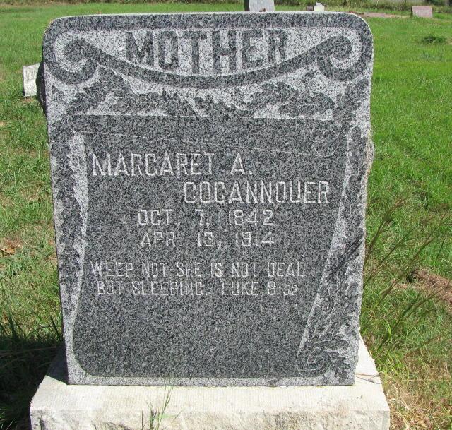 Margaret Ann <i>Milton</i> Cocannouer