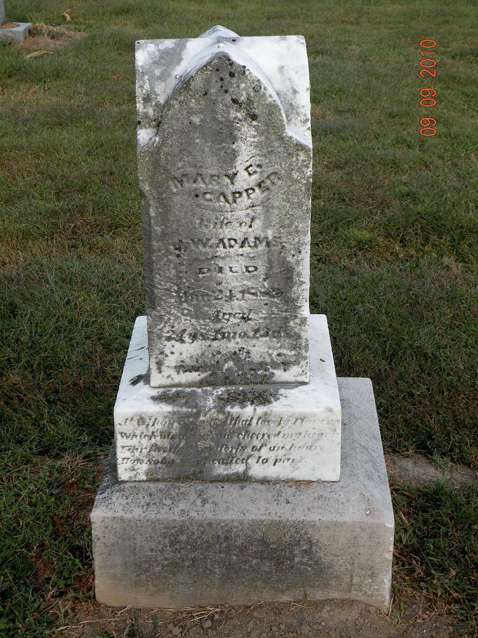 Mary E. <i>Capper</i> Adams