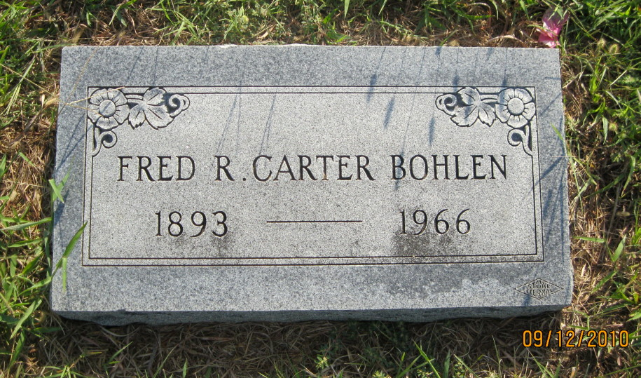 Fred Ray Carter Bohlen
